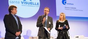Etienne Caniard, le président de la Mutualité Française, lors de l'ouverture des Etats généraux de la santé visuelle, le 15 décembre 2015, à Paris